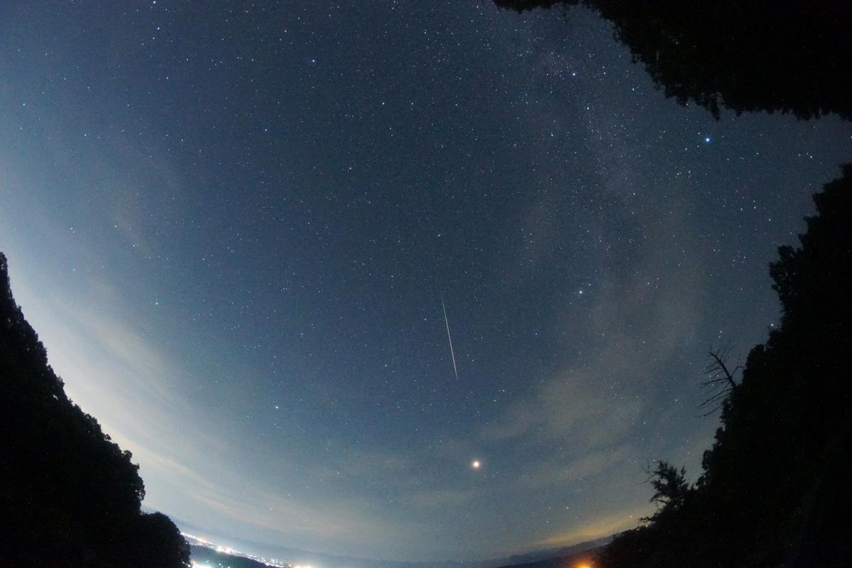 ペルセウス座の流星