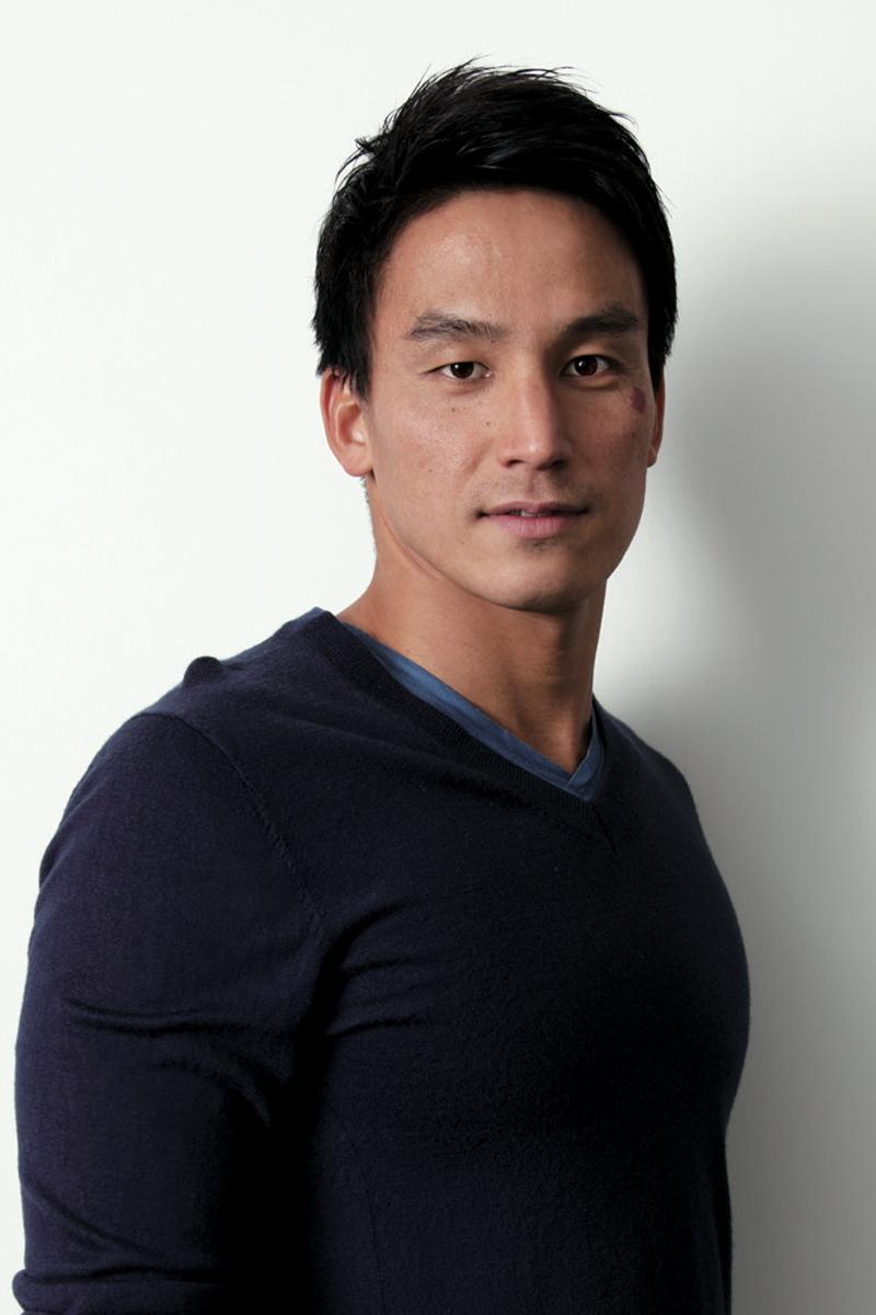 ゲストランナーの松田丈志さん。松田さんは4度のオリンピックに出場した競泳選手
