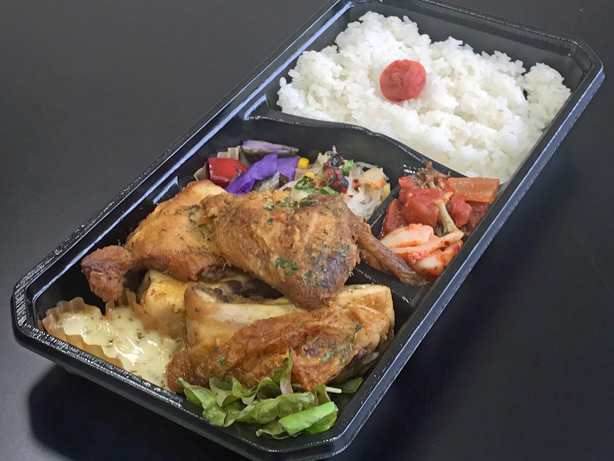 「鶏のスパイス半身揚げ弁当」(980円)