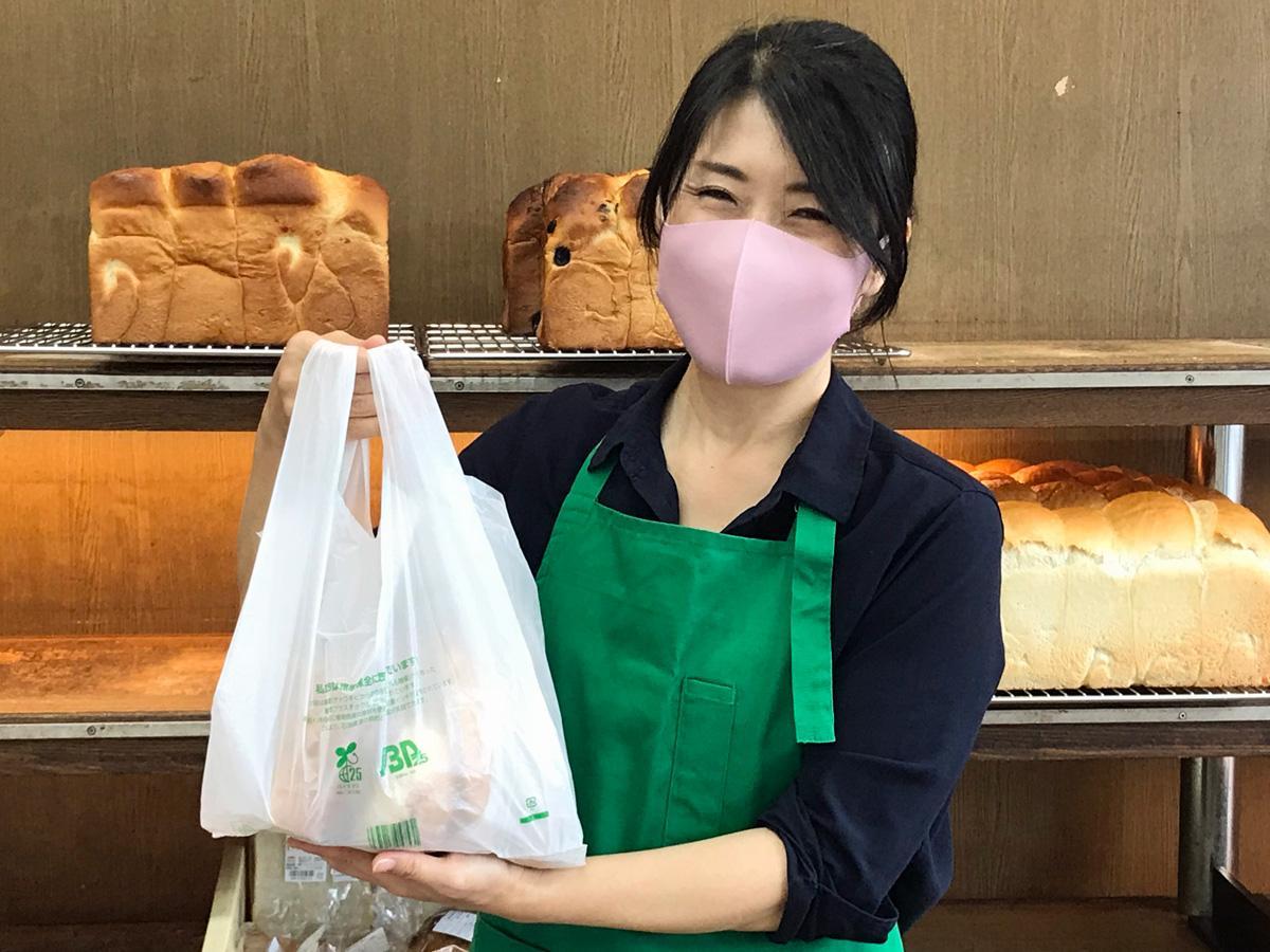 アルファルファは天然酵母による長時間発酵の生地を使ったパンで人気。写真はアルファルファ広瀬店
