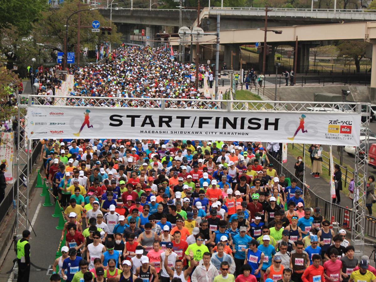 例年なら5,000人以上が参加する「前橋・渋川シティーマラソン」、写真は一昨年の模様