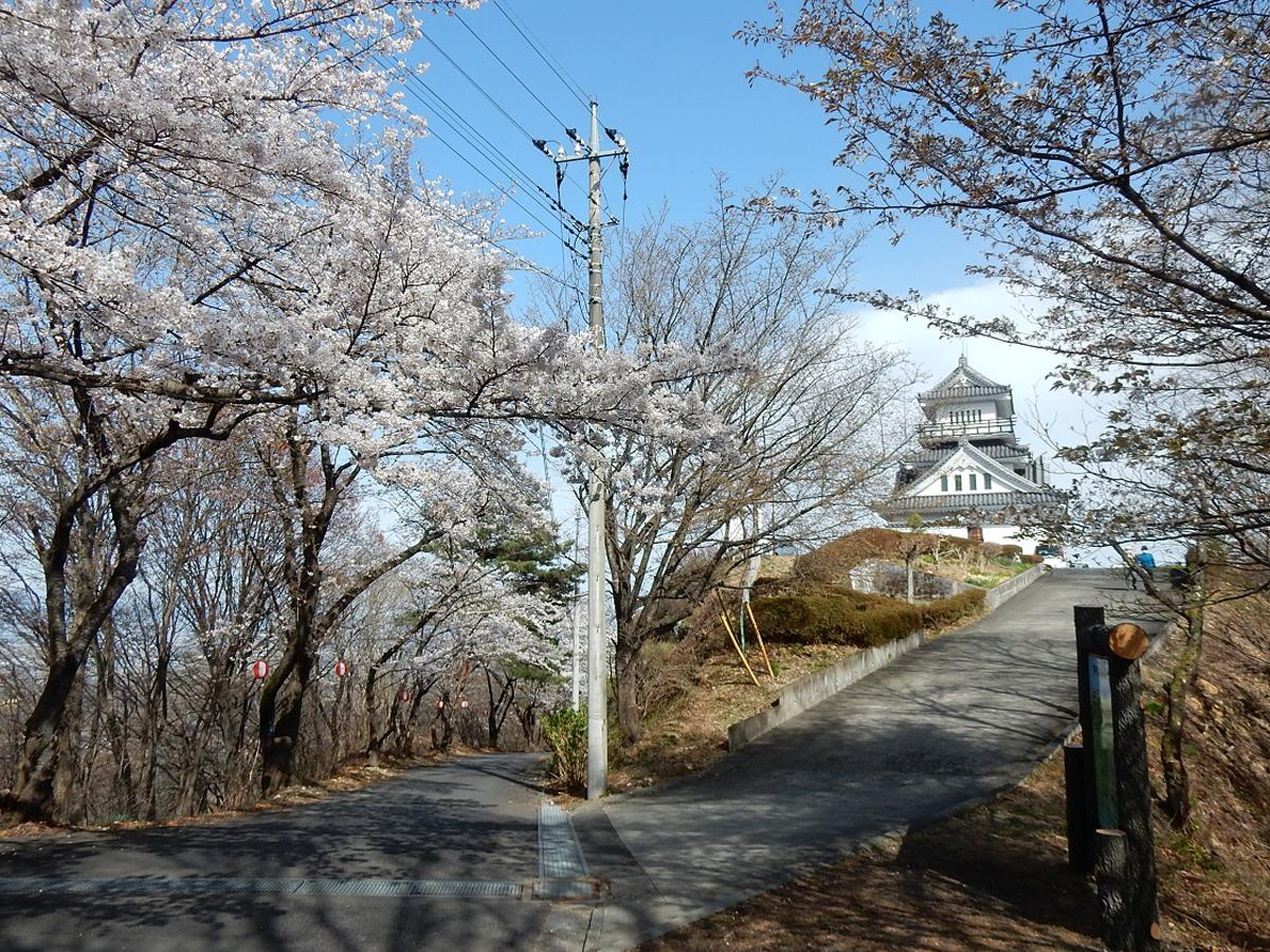 牛伏山展望台付近(3月29日撮影)