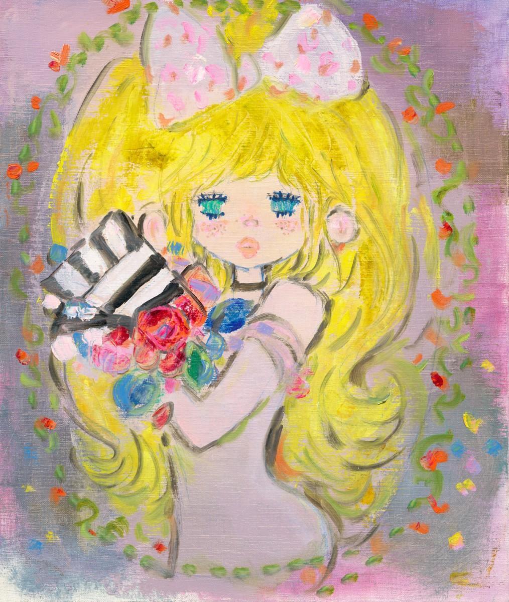 新作「RoseRoom」版画(45×37センチメートル)154,000円(C)Ado Mizumori