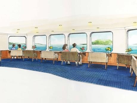 博多湾レストランシップ「マリエラ」にカップルシート新設