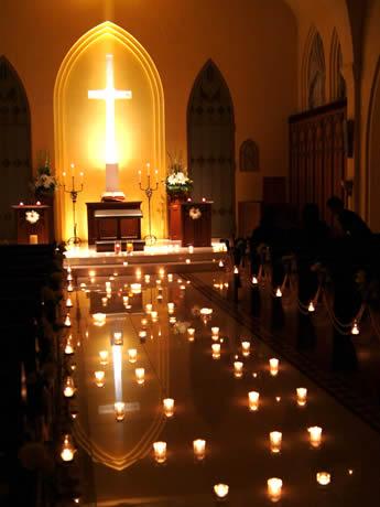 赤坂ル・アンジェ教会で「100万人のキャンドルナイト」賛同イベントが開催