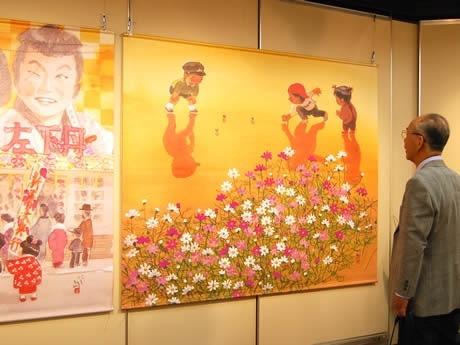 アクロス福岡で西島伊三雄さん童画展「昭和『あの頃』」が開催