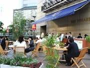 天神3カ所で今年も期間限定「朝カフェ」-「朝ごはん」で街を活性化へ