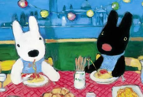 「リサとガスパールのピクニック」 Le pique-nique de Gaspard et Lisa, Hachette Livre © 2006, Georg Hallensleben.