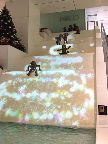 「天神かっぱの泉」がクリスマスバージョンに