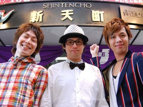 (左から)トリミライトのスマイルひろしさん、ハーモニー下村さん、パーティ橋爪さん