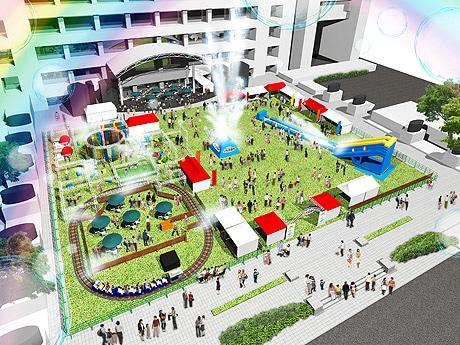 福岡市役所西側ふれあい広場に「天神涼園地」が登場(イメージ)