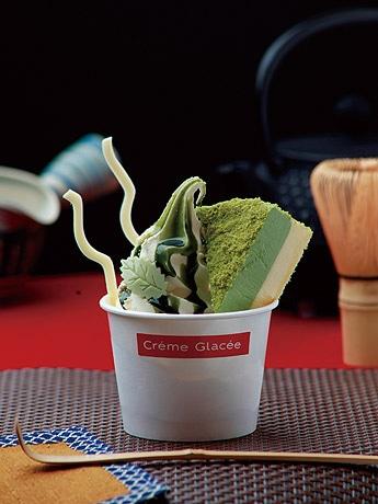 小樽洋菓子舗ルタオ(小樽市)の「抹茶きなこサンデー」(540円)