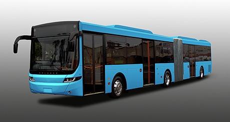 導入する「連節バス」の車両イメージ