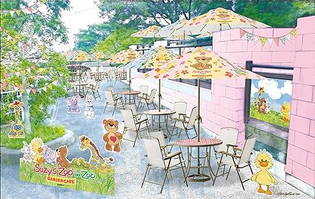 福岡市動物園に「スージー・ズー」とのコラボカフェがオープン