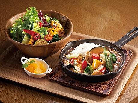 オムズの「野菜の焼きカレープレート」