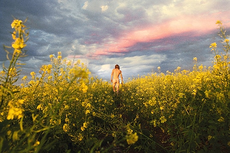 ライアン・マッギンレー/ Ryan McGinley《Mustard Meadow》c-print 121.3×182.3 cm  2012 © Ryan McGinley  Courtesy of Team Gallery, New York / Tomio Koyama Gallery, Tokyo