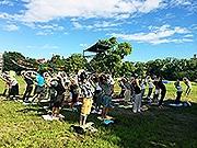 福岡・舞鶴公園でキャンプパーティー 福岡城ナイトツアーも
