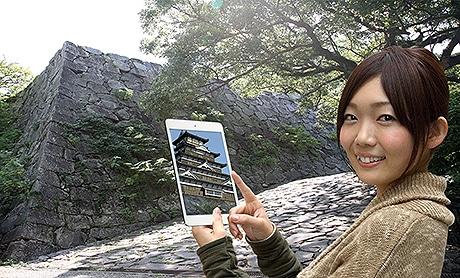福岡城の当時の姿を見ることができる観光アプリ「ストリートミュージアム」が登場
