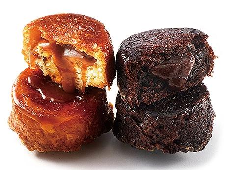アンリ・ルルーの「クイニーアマン・オ・C.B.S」(左)と「クイニーアマン・オ・キャラメル・ショコラ」