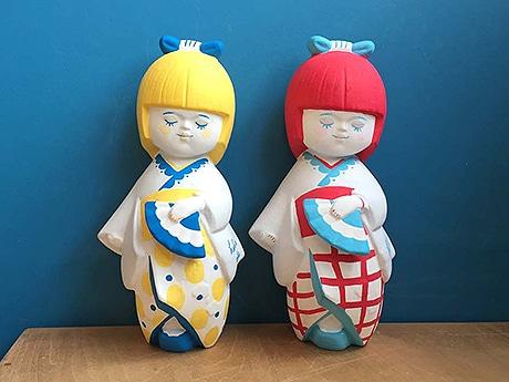 天神で「九産大プロデュース展」が開催(ブランド「HAKATA DOLLS」で展開している博多人形)