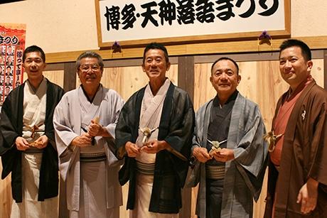 (左から)柳家三三さん、立川志の輔さん、三遊亭円楽さん、三遊亭小遊三さん、桂吉弥さん