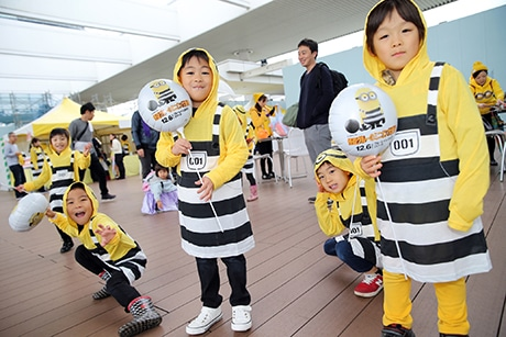 福岡城鴻臚館広場で「MINIONS RUN福岡」が開催(写真は以前開催された様子)