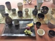 天神で「ほろよいの器展」 小石原焼若手陶芸家の酒器など約500点