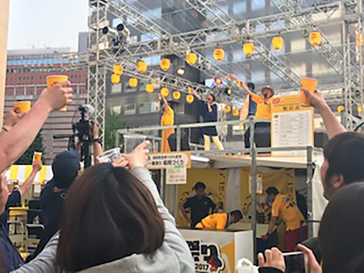天神で「福岡ICHIBANのぼせ祭り2018」が開催(写真は過去開催の様子)
