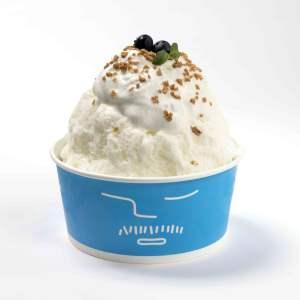 「kiri」とのコラボメニューの「クリームチーズケーキかき氷」