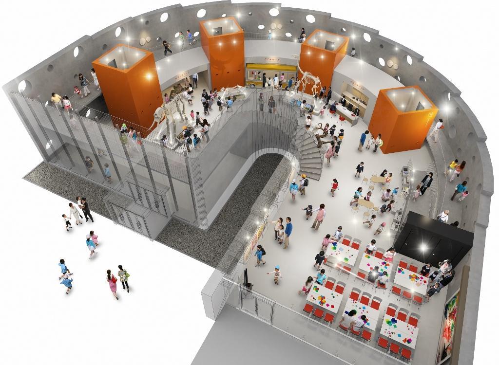 新エントランス施設に新設する「動物情報館」イメージ