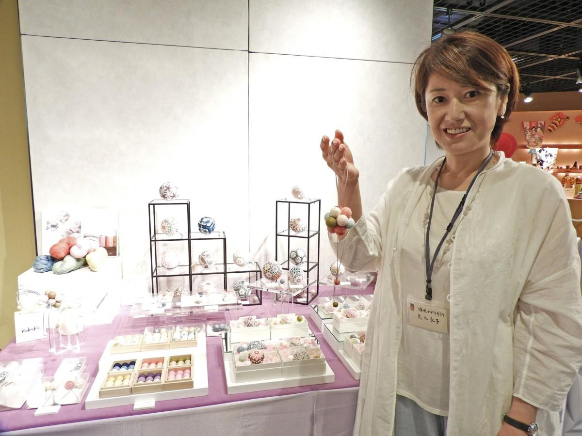 「讃岐かがり手まり」香川県伝統工芸士の荒木永子さん