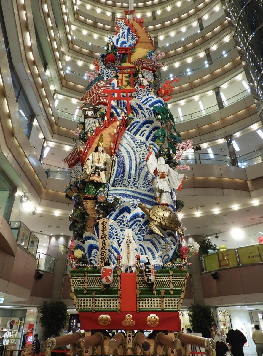 飾り山笠「天神一丁目」の表「安曇磯良丸伝説」