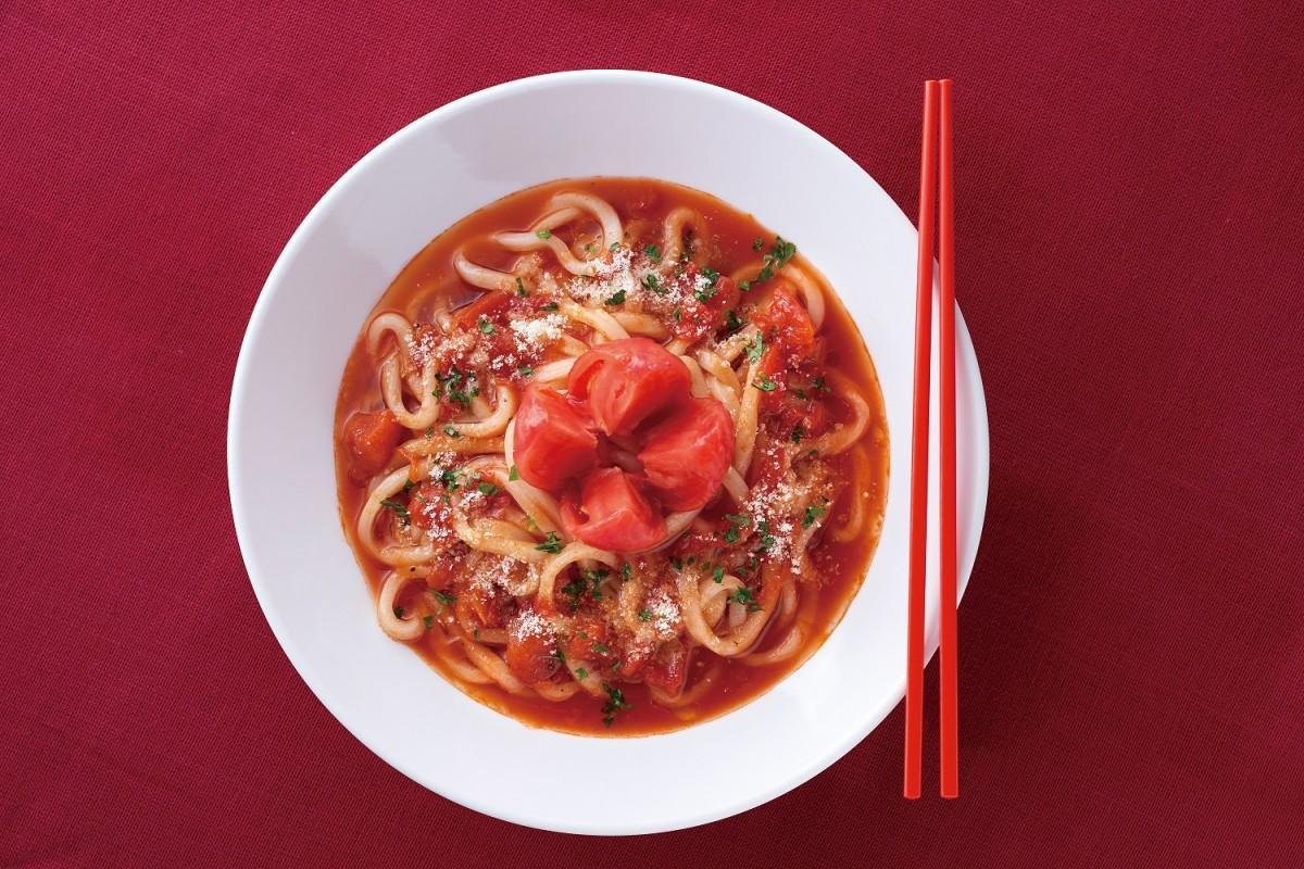 「博多やりうどん」の「冷製トマトうどん」