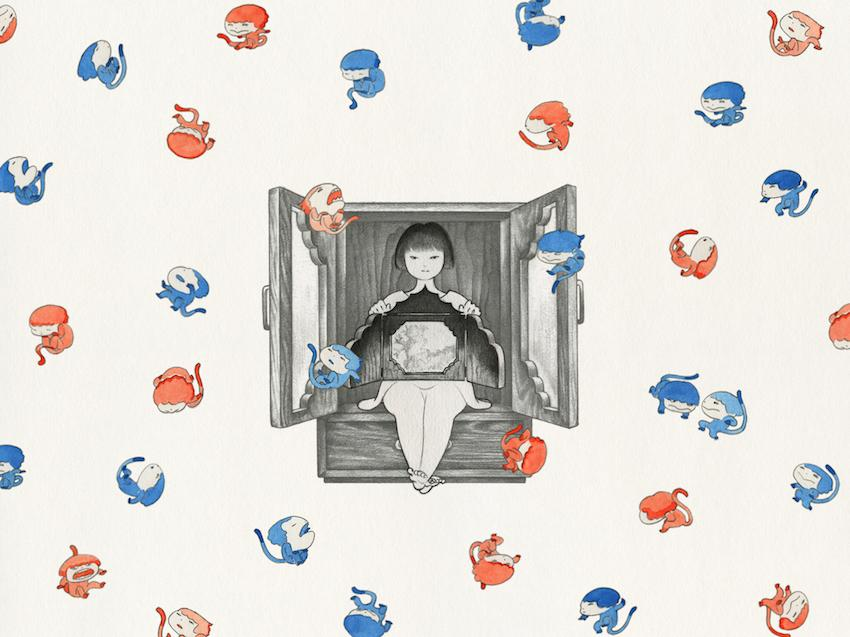 《KiyaKiya》2010-2011年 シングルチャンネル・アニメーションビデオ 6分39秒 音楽:ジョン・ゾーン Courtesy of the artist and Mizuma Art Gallery