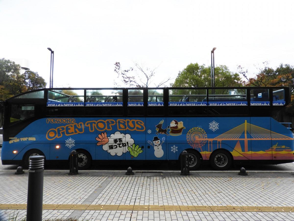 「にしてつバスのHAPPY XMAS」福岡オープントップバス