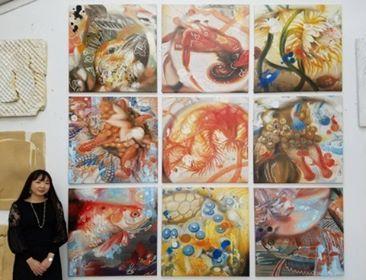 洋画家・今林明子さんと作品「Picture of Picture」