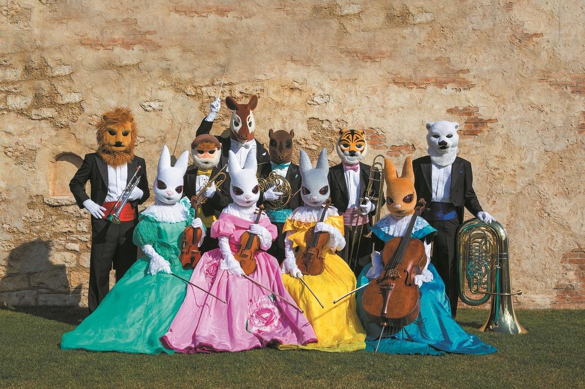 「ズーラシアンブラス」金管五重奏と「弦(つる)うさぎ」弦楽四重奏