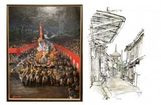 天神でイベント「博多旧市街ウィーク」 散策コースや工芸品の紹介、絵画展示