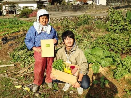 担当の田中さんとおばあさん