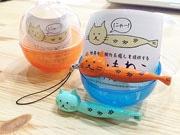 徳島生まれの脱力系キャラ「ししゃもねこ」、ガチャガチャ玩具発売