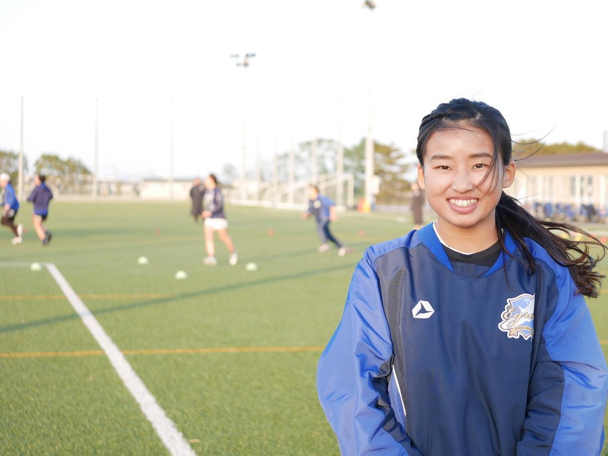 女子ラグビー部の吉田萌香さん