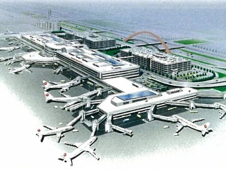 第1旅客ターミナルビルへの太陽光発電システム設置イメージ 画像=日本空港ビルデング