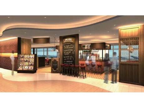 カジュアルレストラン「エアポートグリル&バール」のエントランスイメージ 画像=日本空港ビルデング