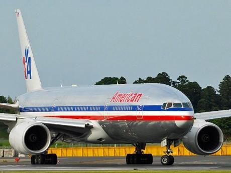 羽田~ニューヨーク線を再開するアメリカン航空のボーイング777型機(参考画像)