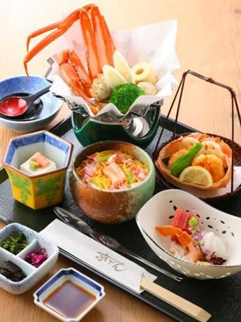 第1ターミナルビルの「京ぜん」の鳥取特別メニューの料理イメージ