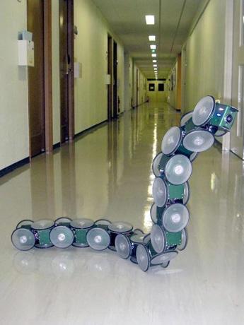 東京工業大学が研究を進める「へび型ロボット」