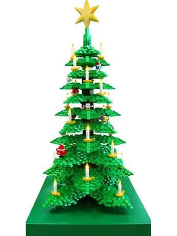 レゴブロック7500個で作られたクリスマスツリー
