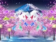 お台場で「夜桜イルミネーション」 日本の花鳥風月を演出