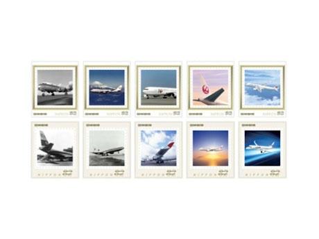 オリジナルフレーム切手「TIAT JAPAN AIRLINES」(イメージ)