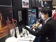 東京ビッグサイトで最先端ワイヤレス技術展示会 ウエアラブル型のロボットハンドも